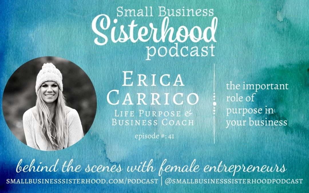 #41 Erica Carrico – the important role of purpose in your business