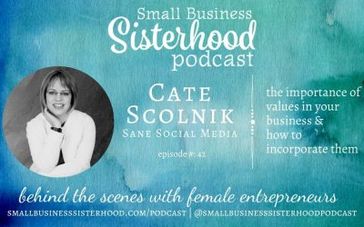 #42 Cate Scolnik – the importance of values in your business and how to incorporate them